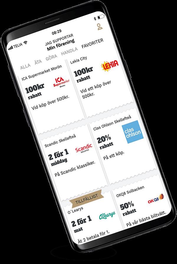 Supporter App Rabattkuponger Erbjudanden 2019 05 medium