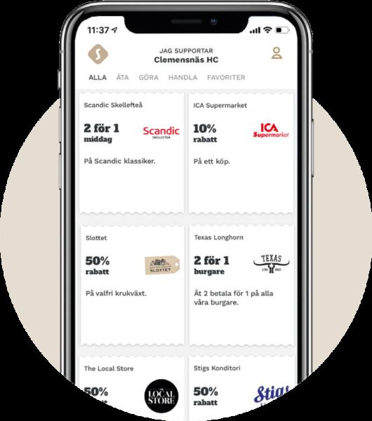 Supporter App - Supporta din förening